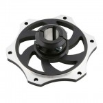 ALUMINIUM SPROCKET CARRIER FOR 25MM AXLE BLACK ANODIZED